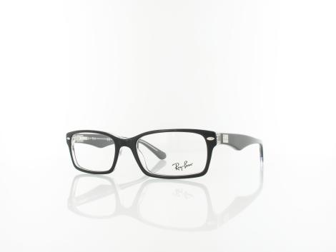 Ray Ban RX5206 2034 54 top black on transparent von Ray Ban