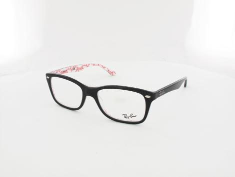 Ray Ban RX5228 5014 53 top black on texture white von Ray Ban