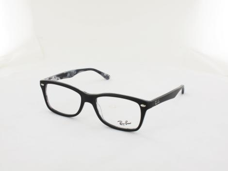 Ray Ban RX5228 5405 53 top mat black on tex camuflage von Ray Ban