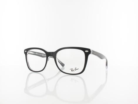 Ray Ban RX5285 2034 53 black on transparent von Ray Ban