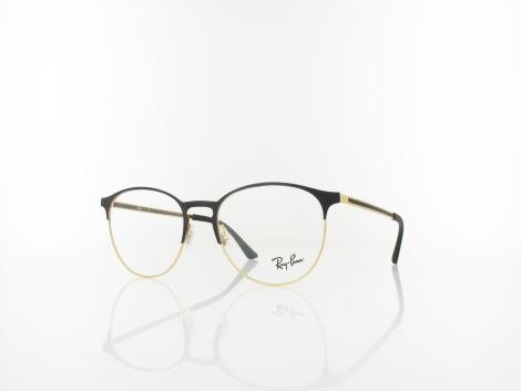 Ray Ban RX6375 2890 53 gold top in black von Ray Ban