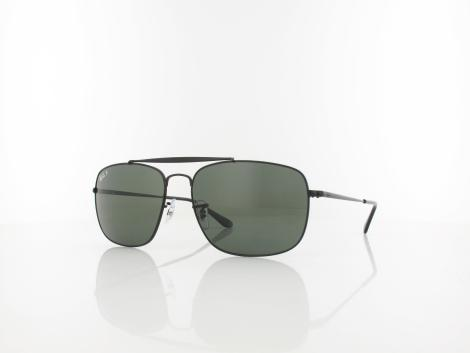 Ray Ban THE COLONEL RB3560 002/58 61 black / green polar von Ray Ban