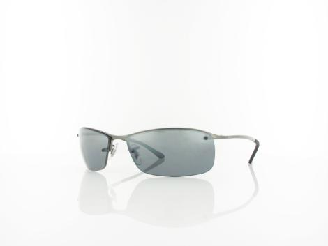 Ray Ban Top Bar RB3183 004/82 63 gunmetal / polar grey mirror silver grandie von Ray Ban