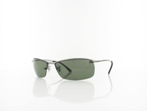 Ray Ban Top Bar RB3183 004-9A 63 gunmetal / polar green von Ray Ban
