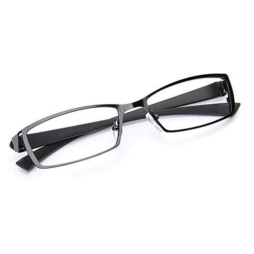 HUILIZ Rectangular Full-frame Alloy Reading Glasses, Fashionable Unisex Reading Aids, Anti-blue Computer Reader von Reading glasses