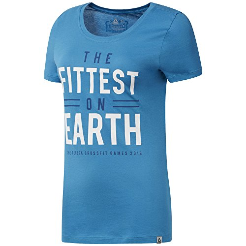 Reebok Damen T-Shirt Cf Games Fittest On Earth S Mehrfarbig (menblu) von Reebok
