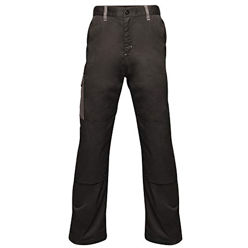 "Regatta Herren Professional Contrast Cargo Hardwearing Triple Stitched Water Repellent Trousers Hose, Black/Seal Grey, Size: 42"" von Regatta"
