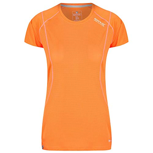 Regatta Virda III Damen Langarm-T-Shirt, schnelltrocknend XL Shocking Orange von Regatta