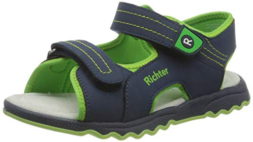 Richter Kinderschuhe Leo Riemchensandalen, Blau (Atlantic/Apple 7202), 34 EU von Richter Kinderschuhe