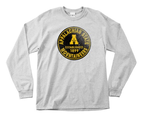 NCAA Appalachian State Mountaineers 100-Percent Pre-Shrunk Vintage Circle Long Sleeve Tee, X-Large, Sport Grey von SDI