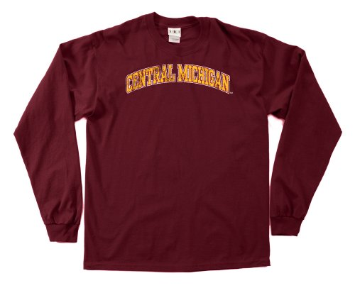 NCAA Central Michigan Chippewas 100-Percent Pre-Shrunk Vintage Arch Long Sleeve Tee, Small, Cardinal von SDI