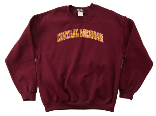NCAA Central Michigan Chippewas 50/50 Blended 8-Ounce Vintage Arch Crewneck Sweatshirt, Small, Cardinal von SDI