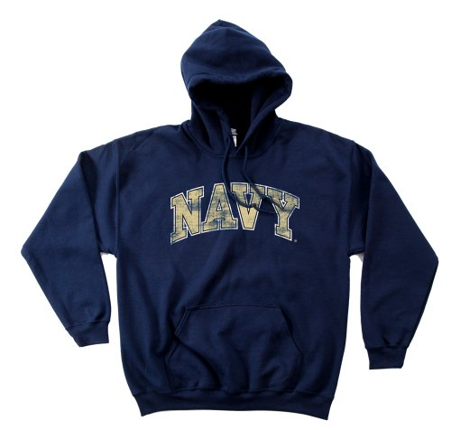 NCAA Navy 50/50 Blended 8-Ounce Vintage Arch Hooded Sweatshirt, Small, Navy von SDI
