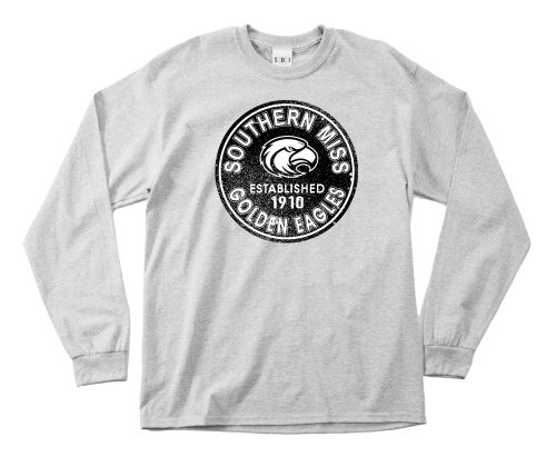 NCAA Southern Mississippi Golden Eagles 100-Percent Pre-Shrunk Vintage Circle Long Sleeve Tee, 3X-Large, Sport Grey von SDI