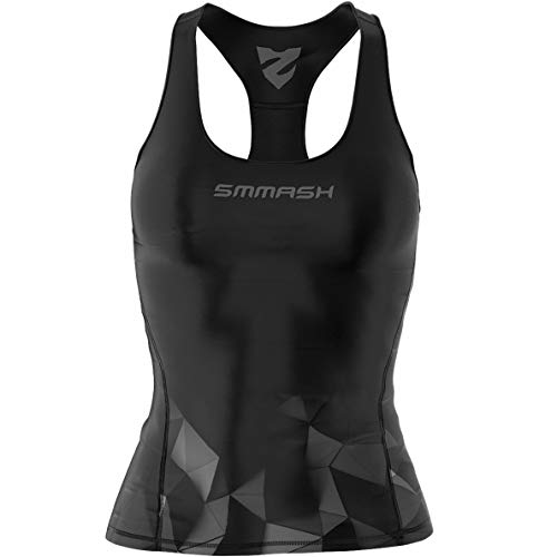 SMMASH Aurora Damen Compression Sport Tank Top, Funktionsshirt für Crossfit, Fitness, Gym, Laufen, Yoga Top, Fit Cut Sporttop Damen Atmungsaktiv und Leicht, Tanktops Frauen, Hergestellt in der EU (XL) von SMMASH