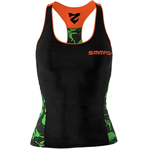 Smmash Damen Compression Fit Tank Top MILITARY - Größe XS S M L XL (XS) von SMMASH X-WEAR