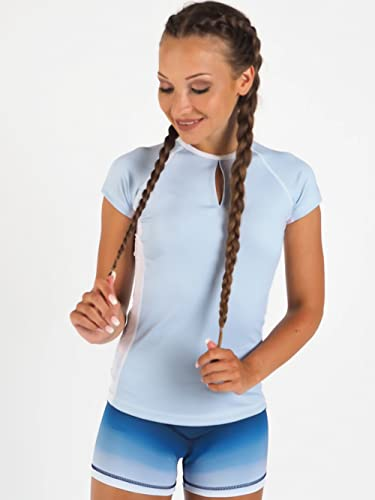 SWEDISH FALL LIFTING ATHLETES Damen Shirt Malibu Vibes, Blau, M von SWEDISH FALL LIFTING ATHLETES