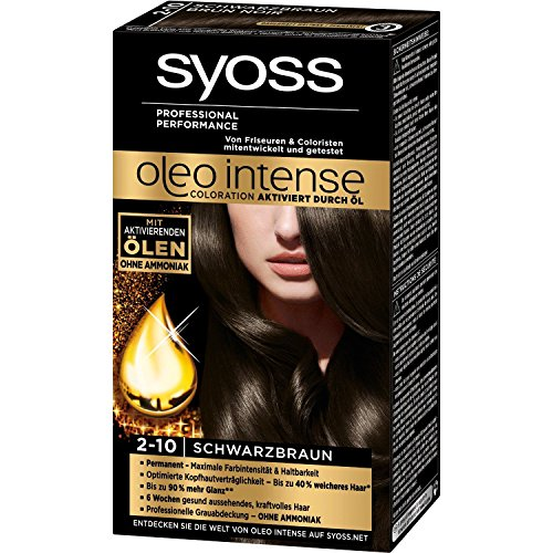 Syoss Oleo Intense Permanent Intensive Oil Color (2-10 Black Brown) by Syoss von Syoss