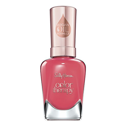 Sally Hansen Color Therapy Nagellack mit Arganöl Aura'nt You Relaxed?, Rot, sofort pflegender Farblack mit glänzendem Finish, Nr. 320, 1 x 14 ml von Sally Hansen