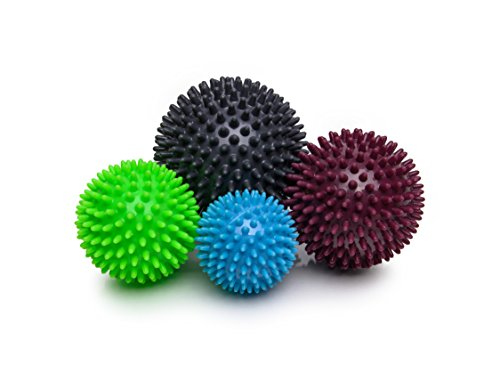 Igelball Igel-Ball Massageball 4er-Set (hellblau, apple, brombeer, graphit) von Sani-Alt