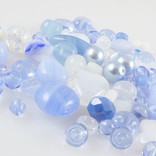 Perlen Perlenmischung braun 4-17mm Glas Beads zum Auffädeln Glasperlen Mix 40St