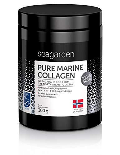 Norwegian Pure Marine Collagen Powder I Wild-Caught Fish from North Atlantic Ocean I 2-Months Supply I Hydrolysate Peptides | Supplement for Skin, Hair, Nails, Tendons, Ligaments |100% Natural I 300 g von Seagarden