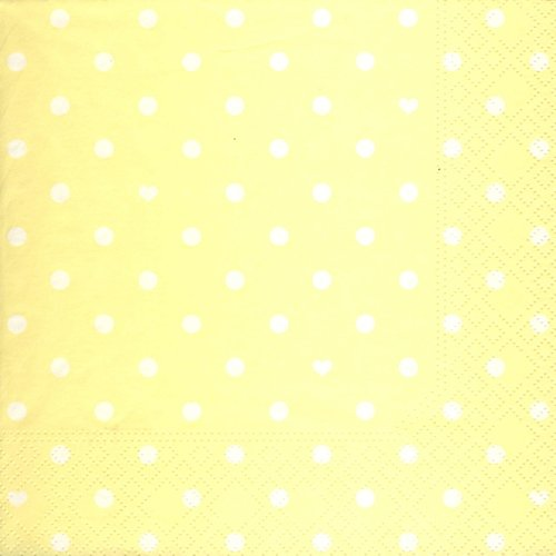 20 Servietten Hearts and Dots yellow - Herzen & Punkte gelb / Muster 33x33cm von Servietten Muster