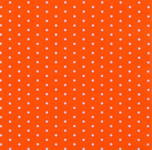 20 Servietten Mini-Punkte orange / Muster / gepunktet 33x33cm von Servietten Muster