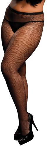 Seven til Midnight 20310X Fishnet Pantyhose, schwarz (Queen Size) von Seven Til Midnight