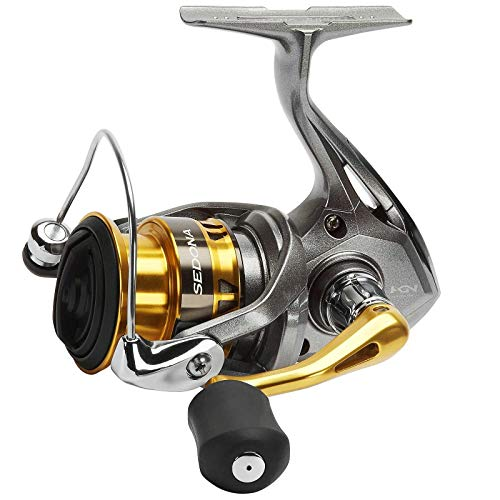 SHIMANO Sedona C5000 XG FI, Spinning Angelrolle mit Frontbremse von SHIMANO