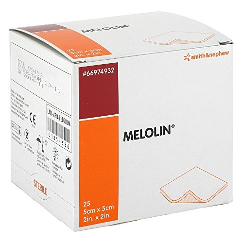 Smith & Nephew Melolin haftend 25 Pack Kompressen steril 5 cm x 5 cm von Smith & Nephew