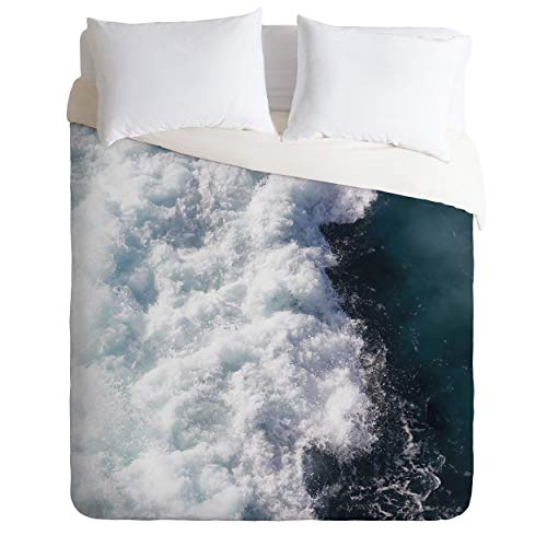 "Society6 Ingrid Beddoes Ocean Storm Duvet Cover Set, 104"" x 88"", Pillowcases: 40"" x 20"", Blue von Society6"