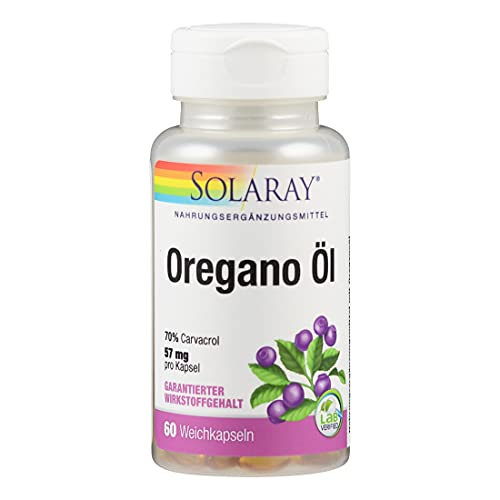 Solaray Oregano Öl 70% Carvacrol | 60 Softgels von SOLARAY