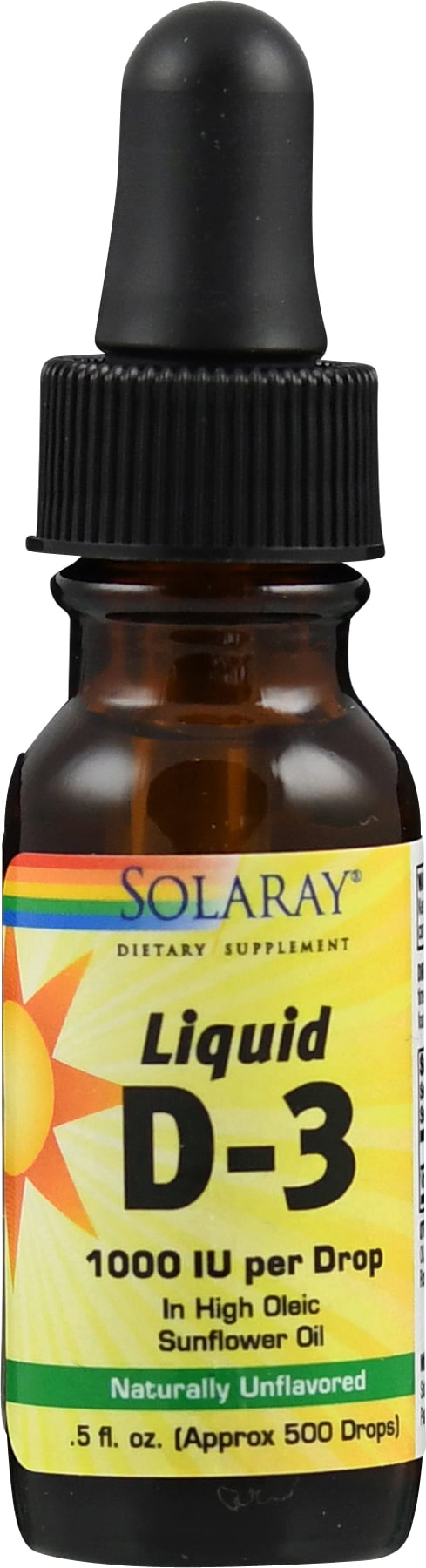 Solaray Vitamin D3 Liquid, Organic Oil - 14 ml von Solaray