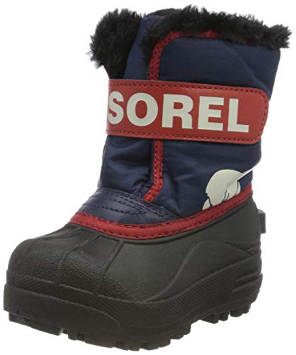 Sorel Unisex Baby Toddler Snow Commander Stiefel, Blau/Rot (Nocturnal/Sail Red), 22 EU von Sorel