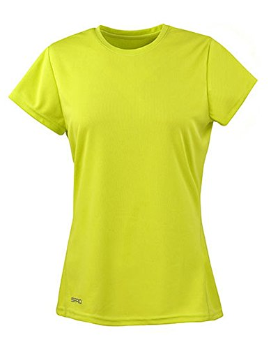 Spiro Damen Quick Dry Super Soft Short Sleeve T-Shirt, Lime, XL von Spiro