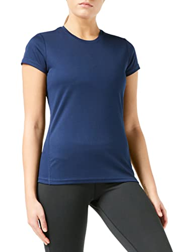 Spiro Damen Quick Dry Super Soft Short Sleeve T-Shirt, Navy, XL von Spiro
