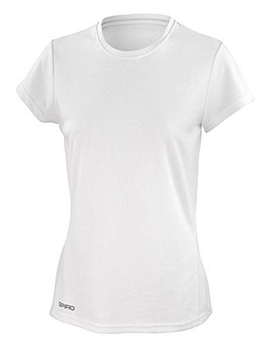 Spiro Damen Quick Dry Super Soft Short Sleeve T-Shirt, weiß, Small von Spiro