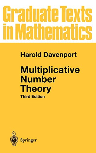 Multiplicative Number Theory (Graduate Texts in Mathematics (74), Band 74) von Springer