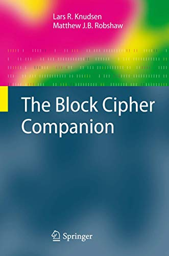 The Block Cipher Companion (Information Security and Cryptography) von Springer, Berlin