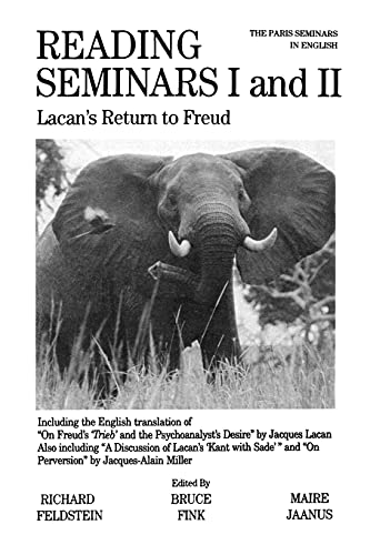 Reading Seminars I and II: Lacan's Return to Freud (Suny Series in Psychoanalysis & Culture) (Suny Series in Psychoanalysis and Culture) von State University of New York Press