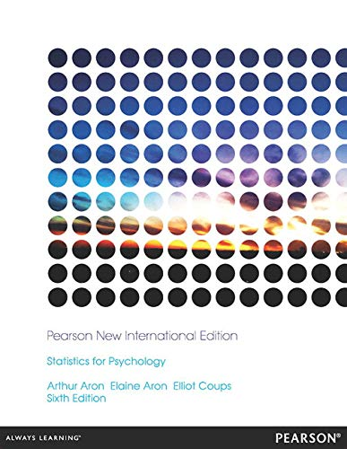 Statistics for Psychology: Pearson New International Edition von Pearson Education Limited