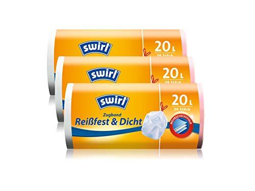2x Swirl Tragegriff Müllbeutel 10L 37 stk.//Rolle
