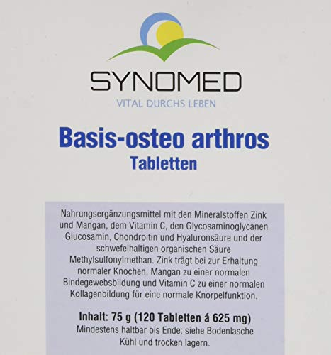 Basis-osteo arthros Tabletten, 120 Tabletten (75 g) von SYNOMED