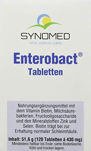 Enterobact Tabletten, 120 Tabletten (51.6 g) von SYNOMED