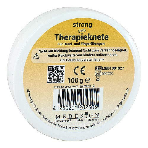 THERAPIEKNETE strong gelb 100 g von Therapieknete