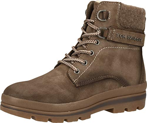Tom Tailor Womens 9090701 Mid Calf Boot Bootie Boot, Taupe, 3.5 UK von TOM TAILOR