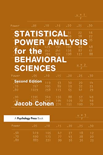 Statistical Power Analysis for the Behavioral Sciences von Taylor & Francis Inc