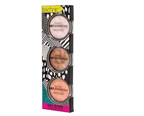 Technic Pack of 3 Get More Gorgeous Highlighting Powders von Technic
