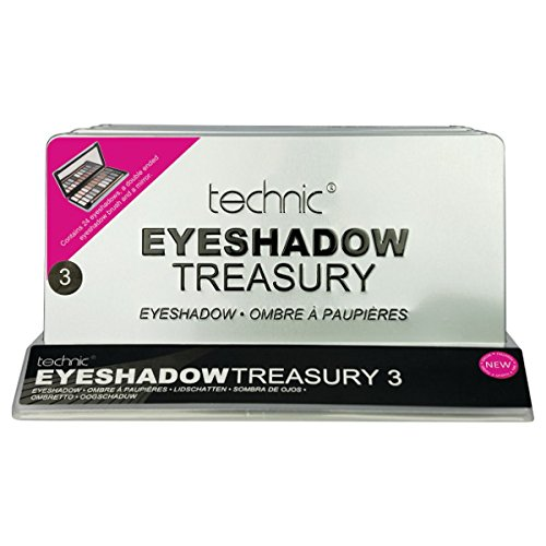 Technic Treasury 3 24 Colour Eye Shadow Palette With Mirror